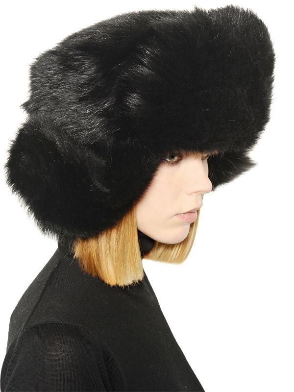 Lyst - Moncler Gamme Rouge Lapin Fur Ushanka Hat in Black for Men 51d6689e550