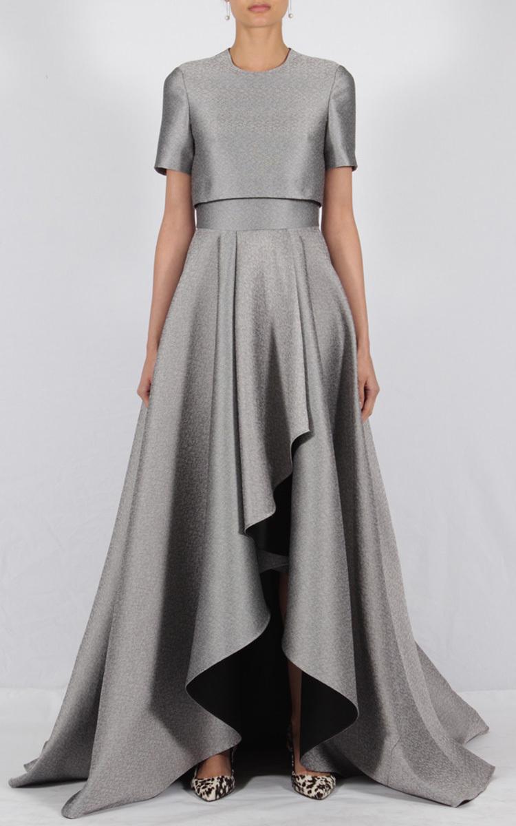 Lyst - Jason Wu Short Sleeve Double Face Gown in Metallic
