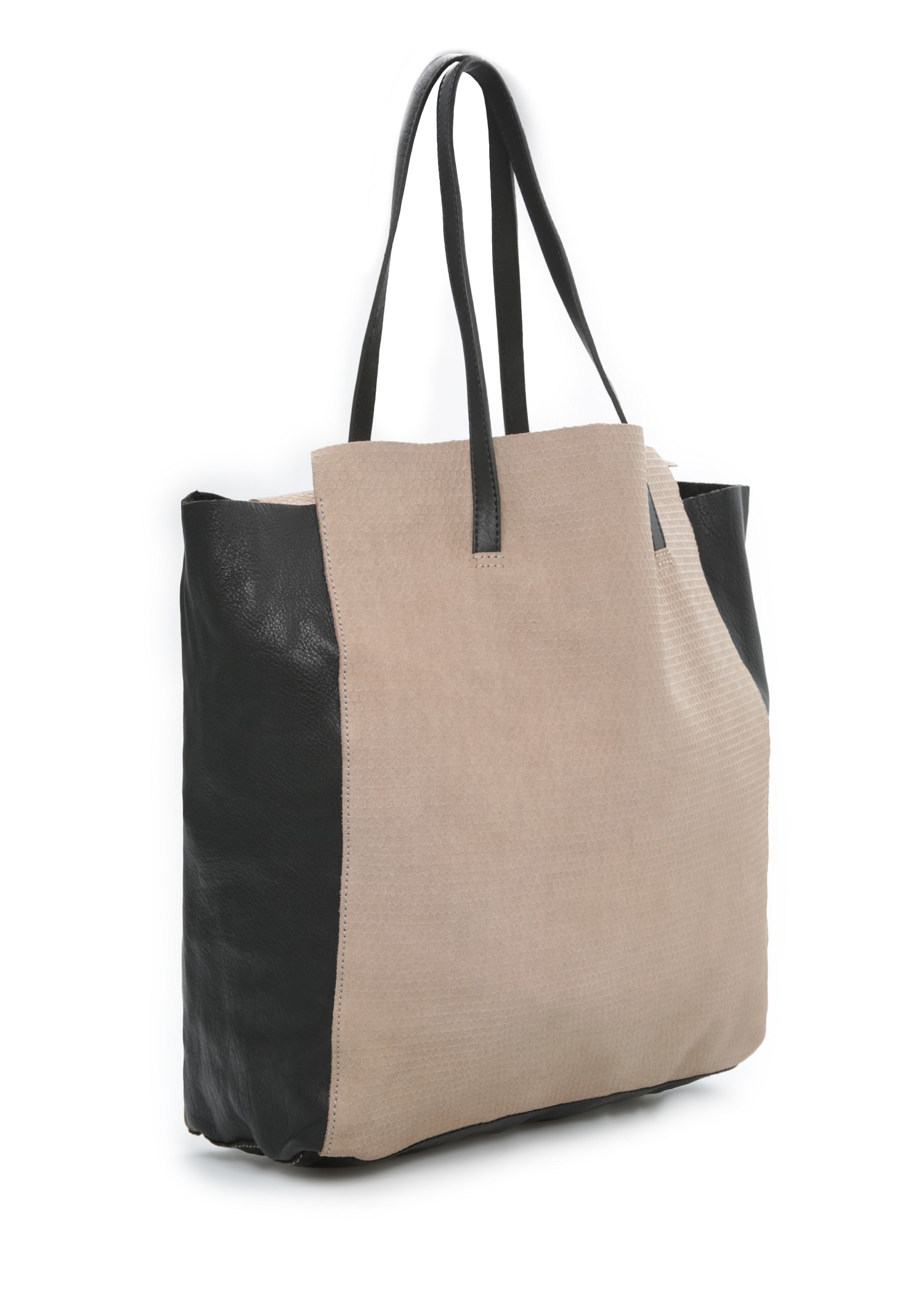 Simple Mango Women39s Suede Shopper Bag Charcoal ShopSizesLabelU  Cheap