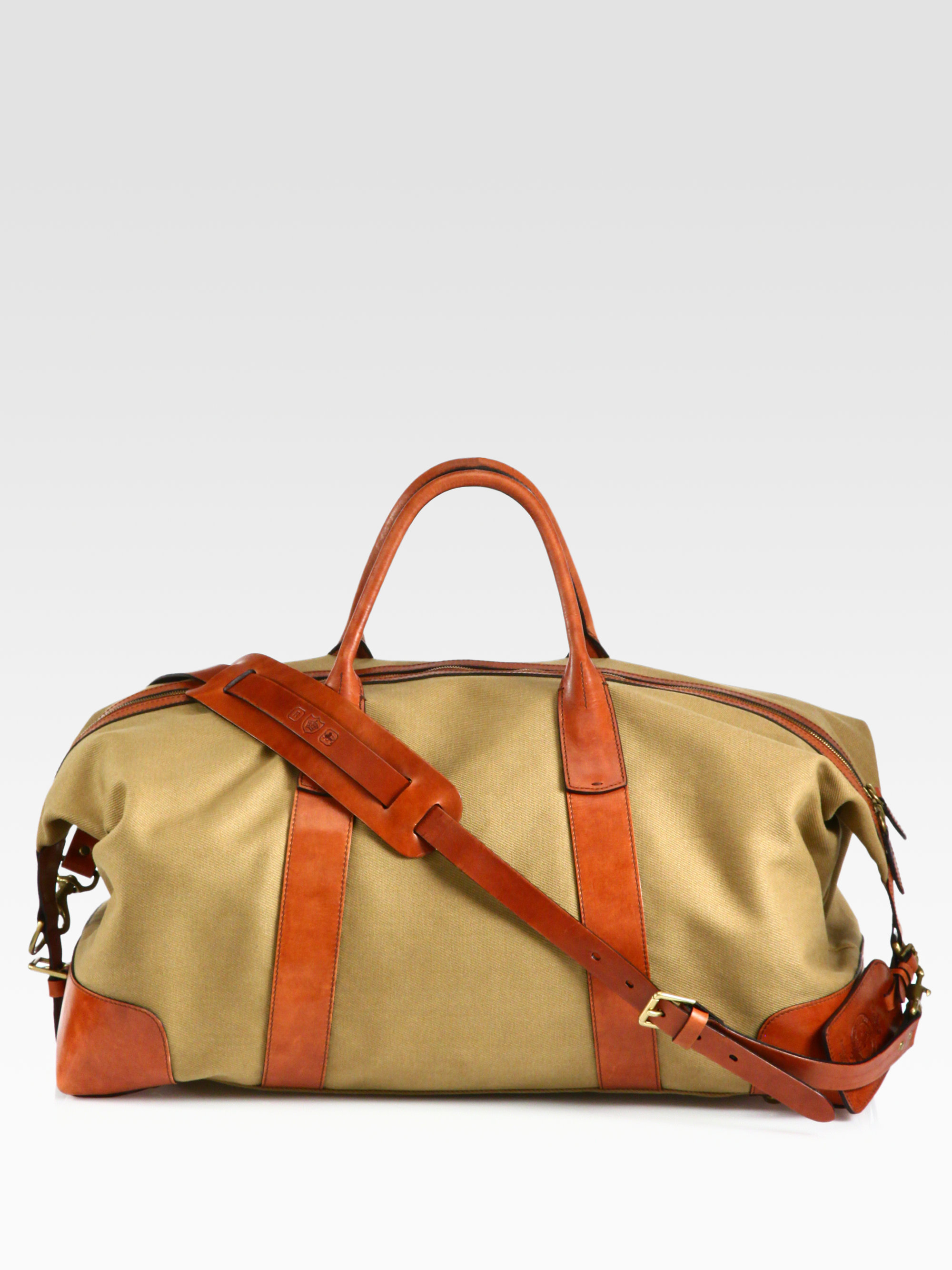 ecefa2ac3b3b Lyst - Polo Ralph Lauren Canvas Duffel in Natural for Men