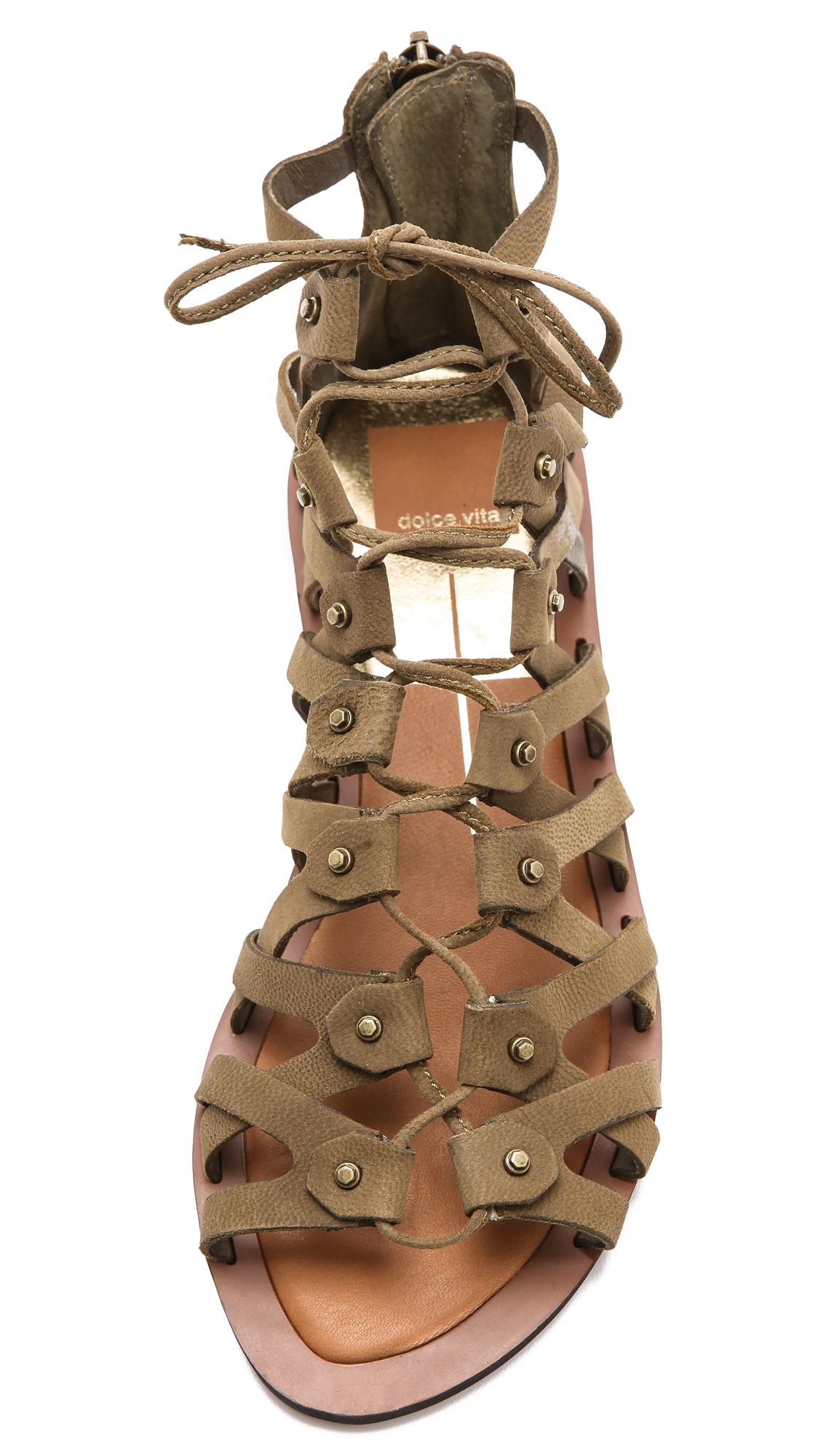 Lyst Dolce Vita Frey Gladiator Sandals In Brown