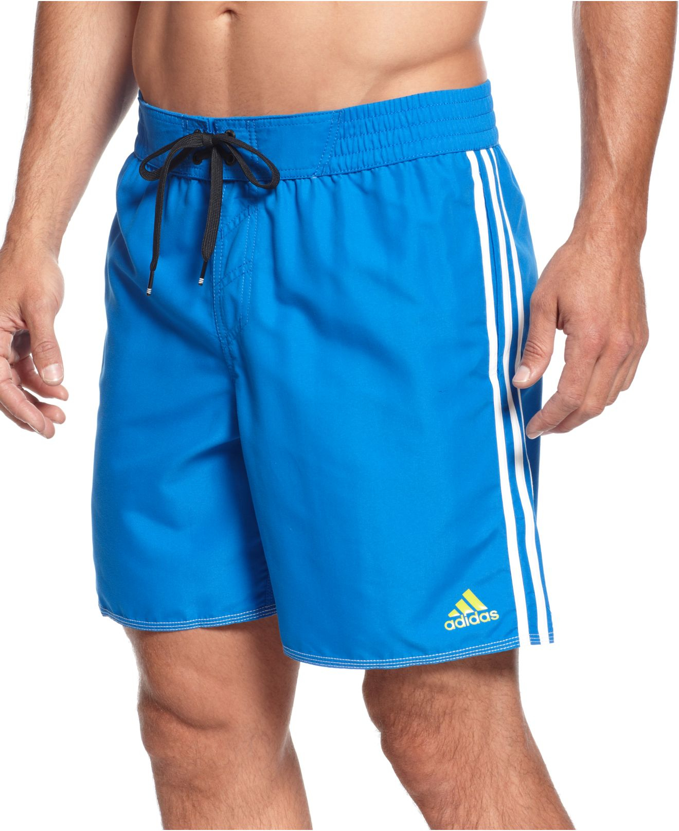 Adidas big and tall core volley swim shorts in gray for for Mens swim shirt big and tall