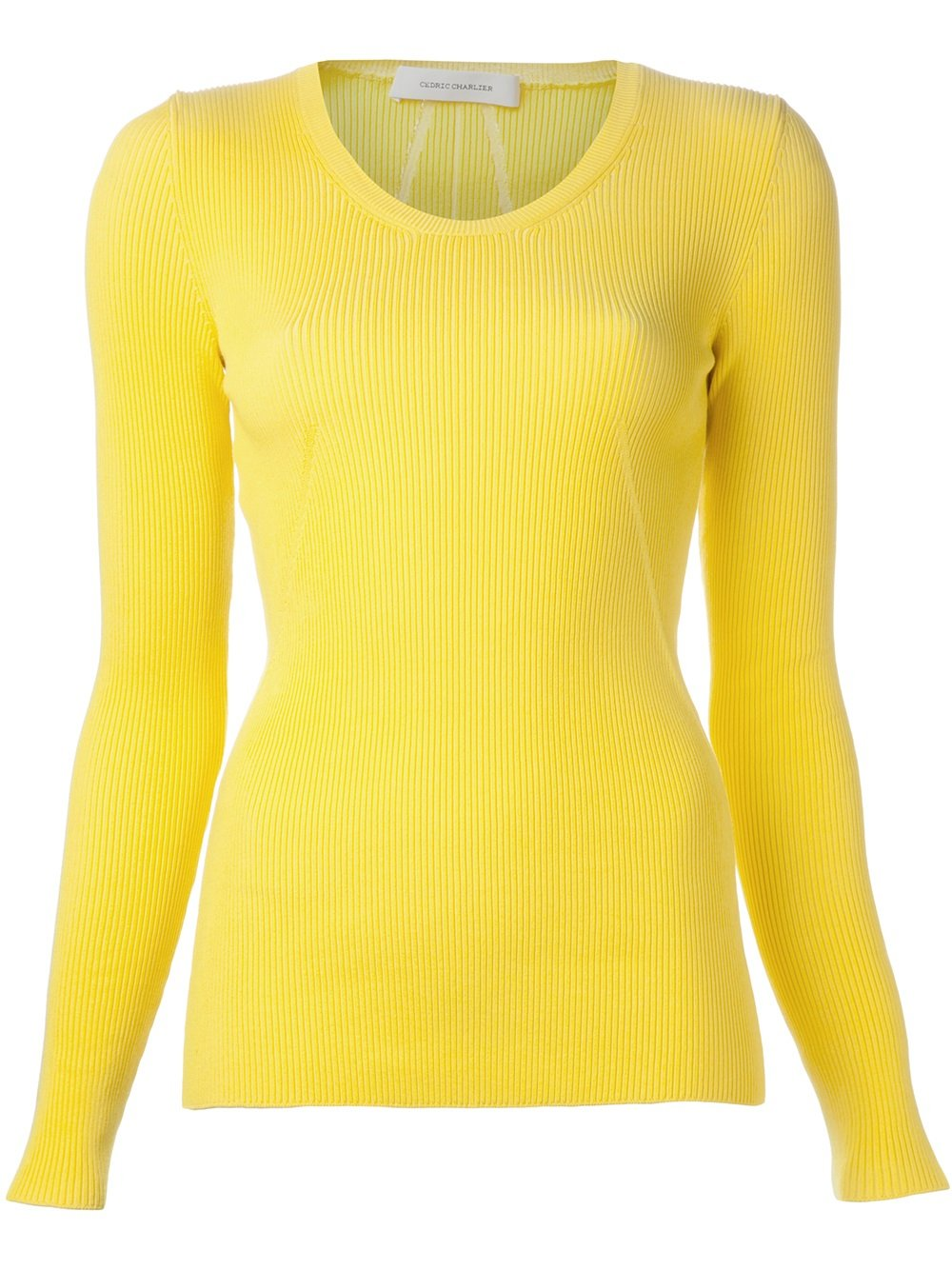 Cedric charlier Ribbed Sweater in Yellow | Lyst