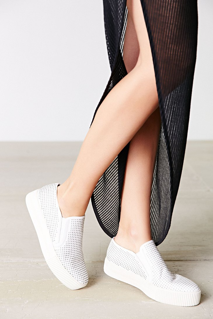 Lyst - Ash Kurt Perforated Leather Slip-on Sneaker in White