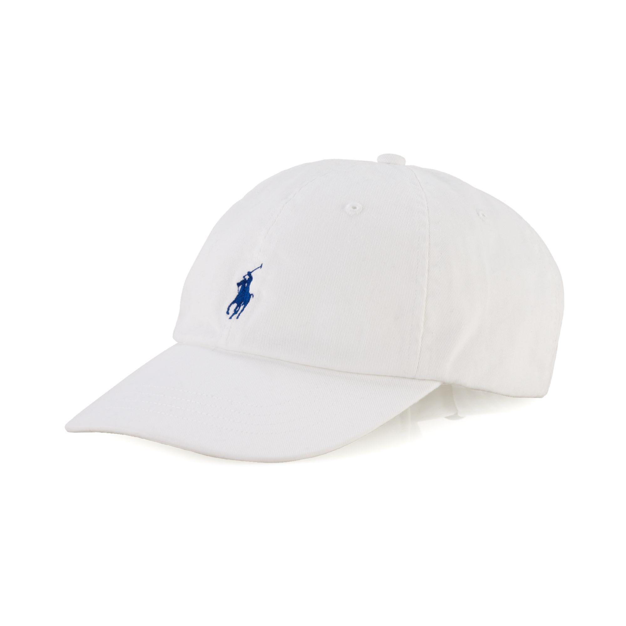polo ralph lauren core classic sport cap in white for men. Black Bedroom Furniture Sets. Home Design Ideas