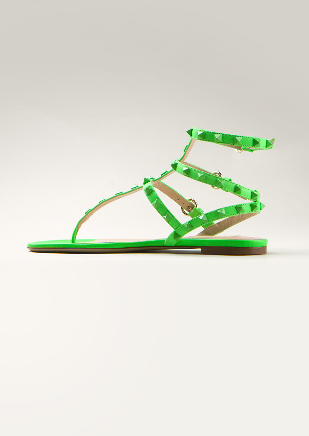 Valentino Neon Green Patentleather Sandals In Green Lyst