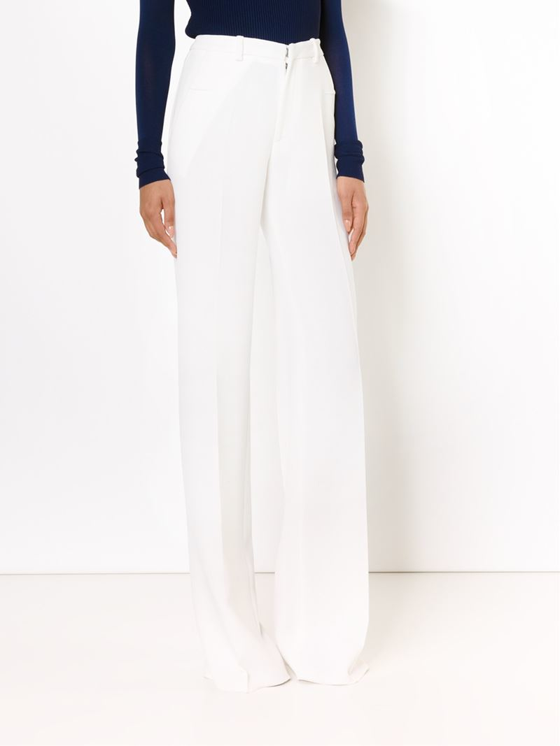 665683330a73 Lyst - Roland Mouret High Waisted Wide Leg Trousers in White