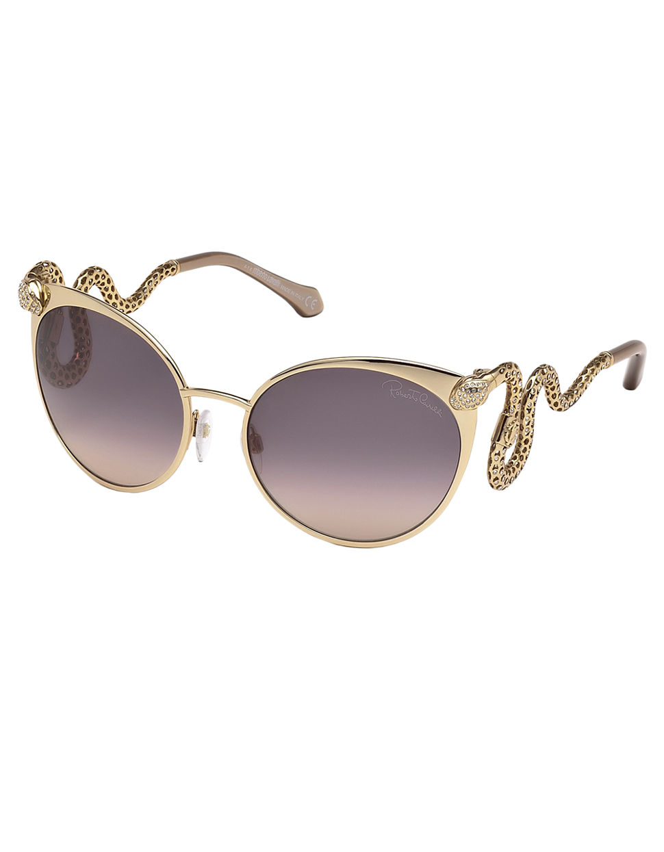 Roberto Cavalli Snake Sunglasses In Pink Lyst