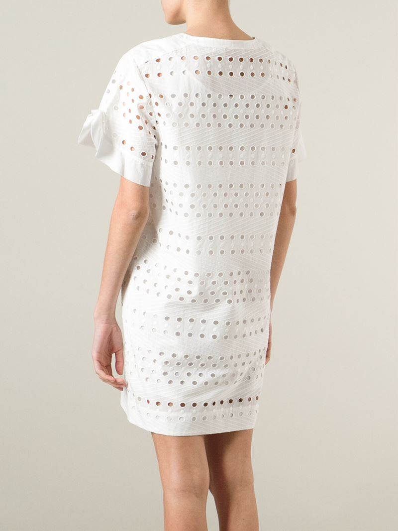 Broderie anglaise cotton dress See By Chlo A9xvX5