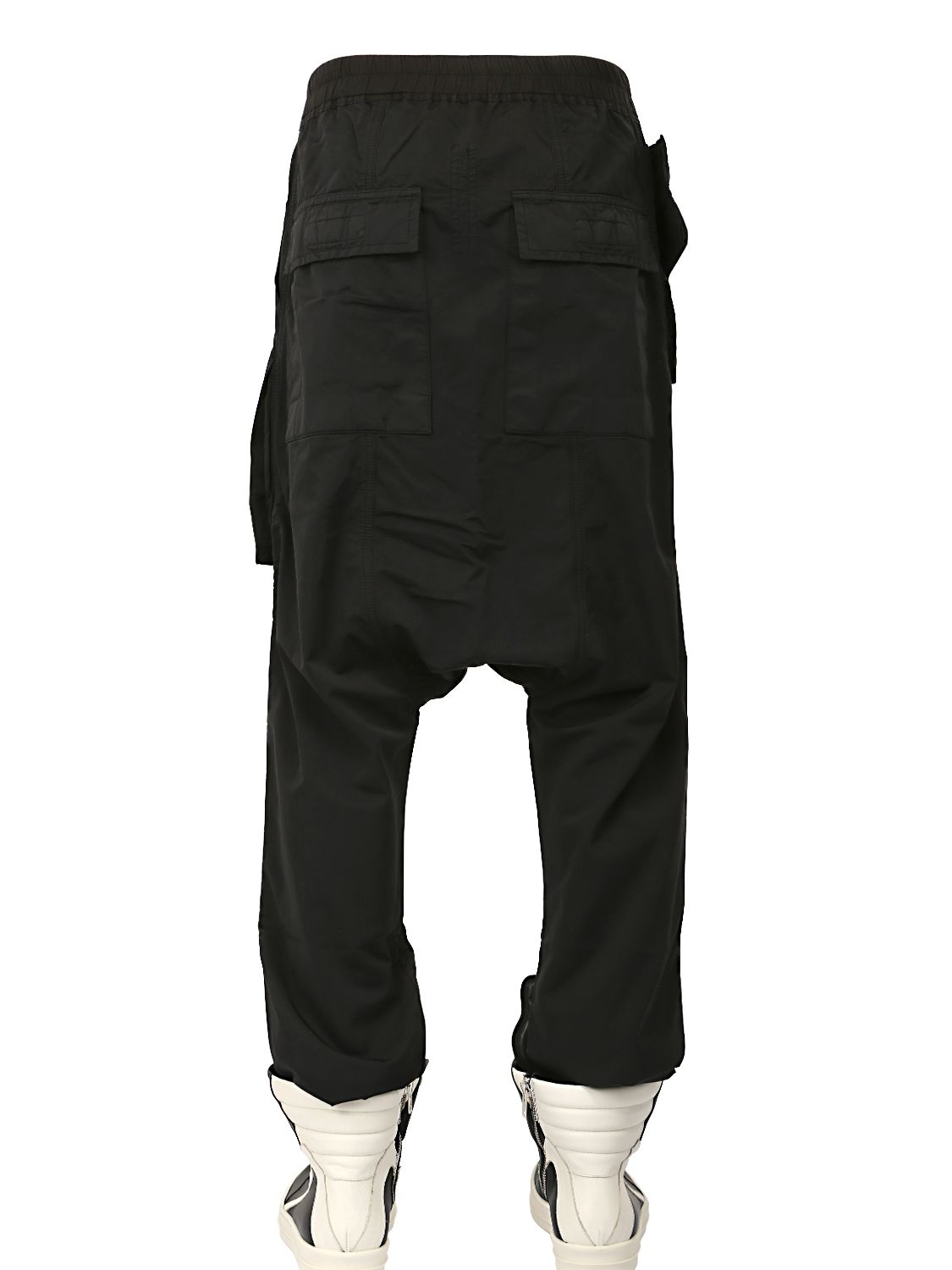 Rick Owens Drkshdw Cotton Nylon Long Rise Pants In Black