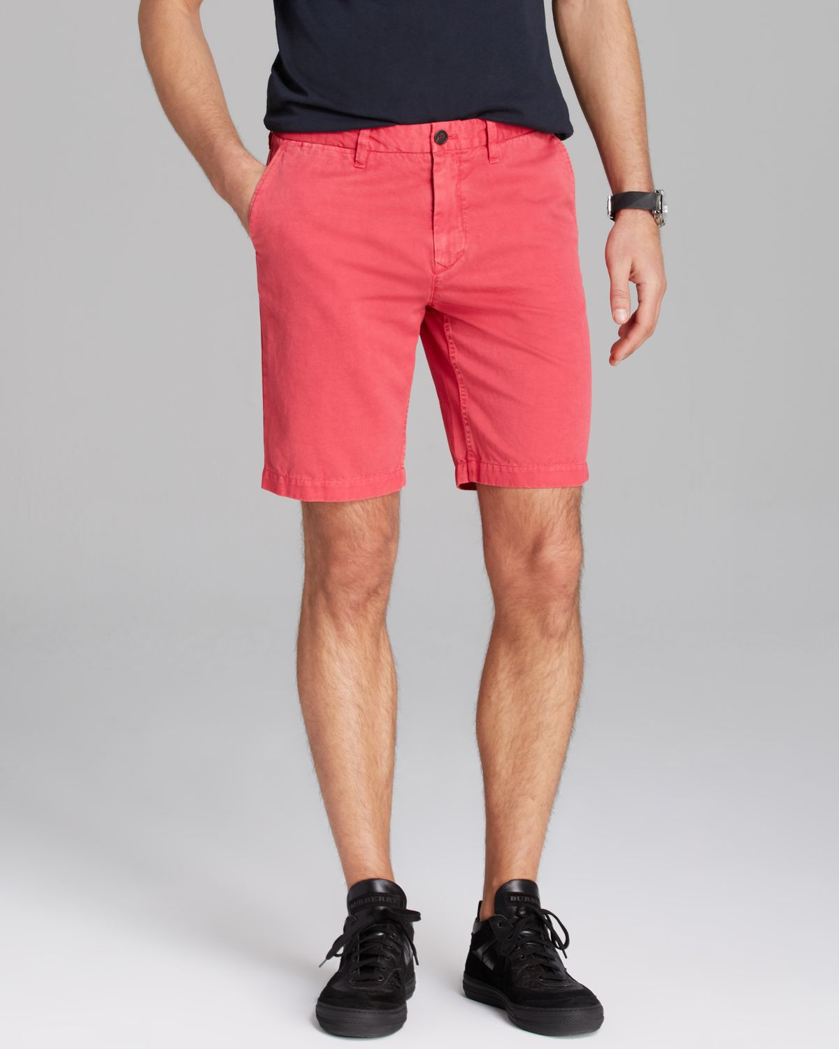 Burberry Brit Tailored Shorts in Pink for Men | Lyst