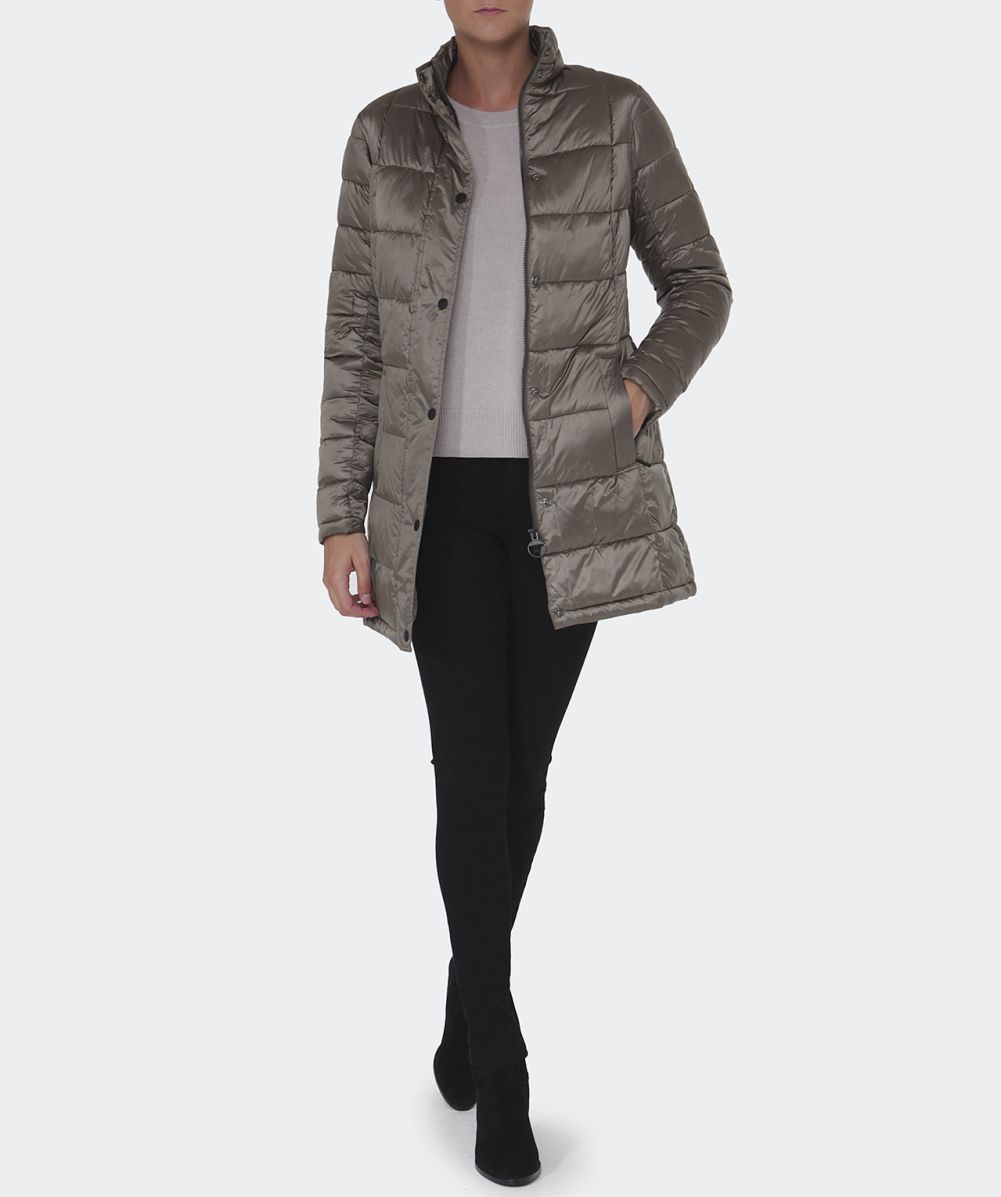Barbour Clyde Long Quilted Jacket in Natural | Lyst