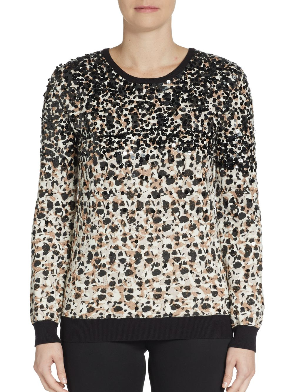 marc by marc jacobs patterned sweater in black lyst. Black Bedroom Furniture Sets. Home Design Ideas