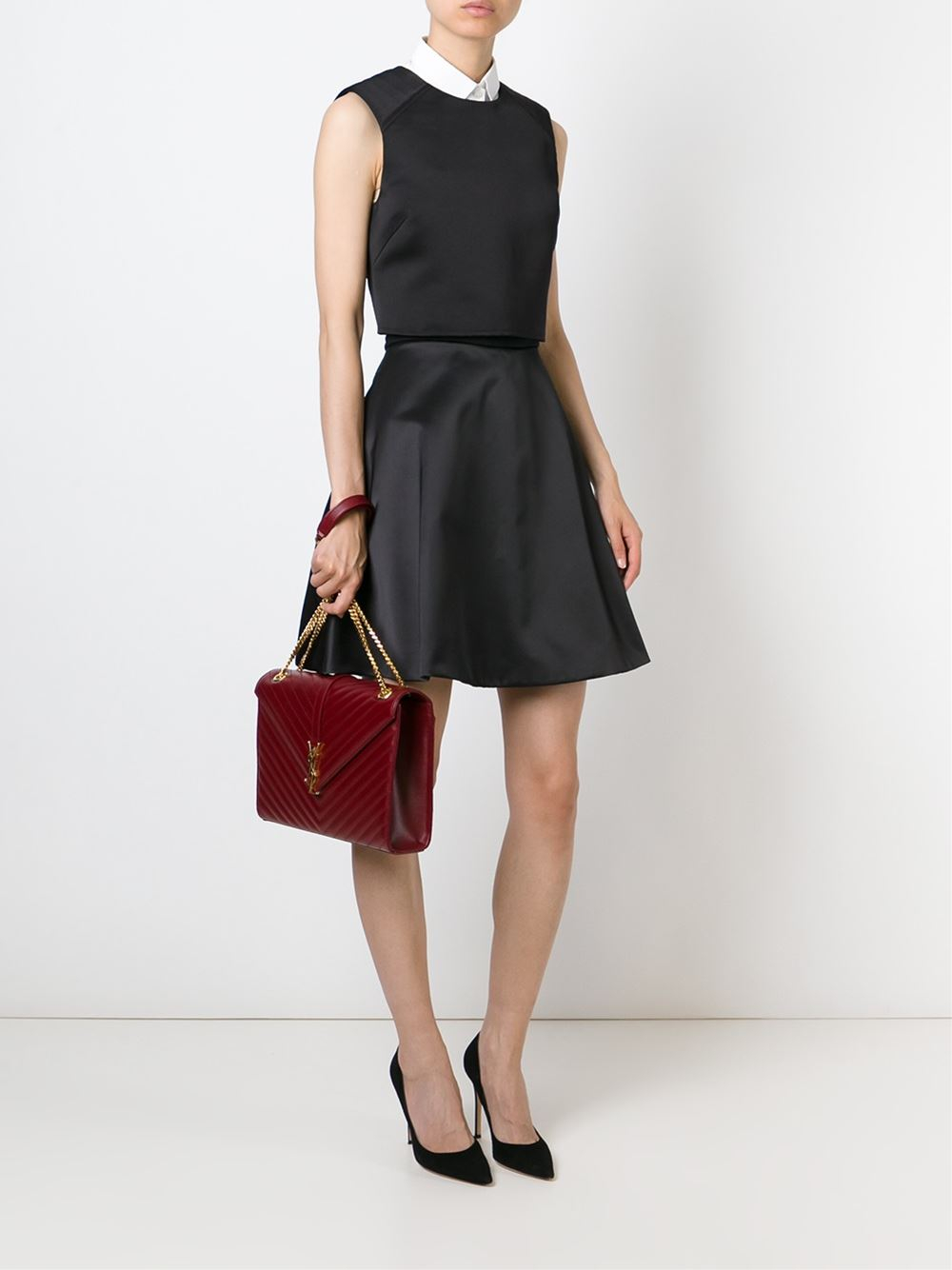 ysl satchel bag - classic medium monogram saint laurent chain bag in black matelasse ...