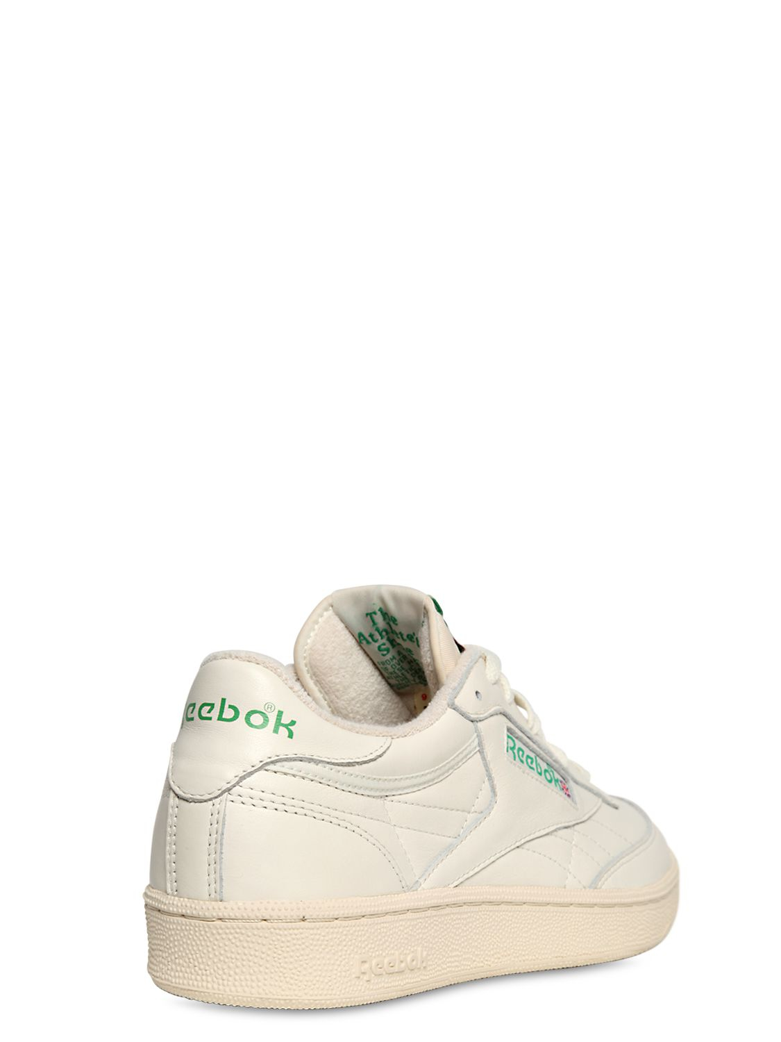 98b2d4bb9fdf23 Lyst - Reebok Club C 85 Vintage Leather Low-Top Sneakers in White for Men