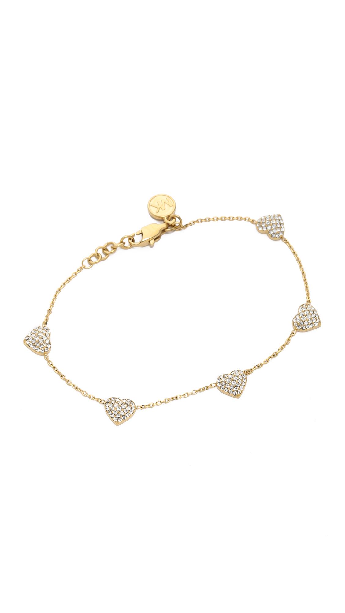 michael kors pave delicate bracelet in gold lyst