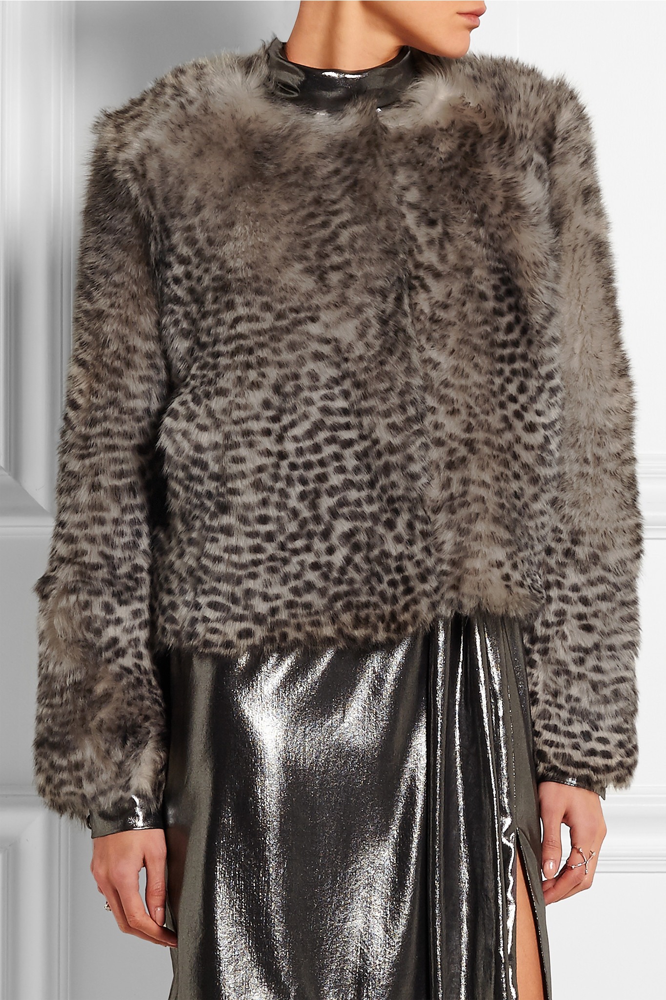 e9b87da5df7c Topshop Unique - D'arblay Chubby Animal-print Shearling Jacket - Leopard  Print - Lyst