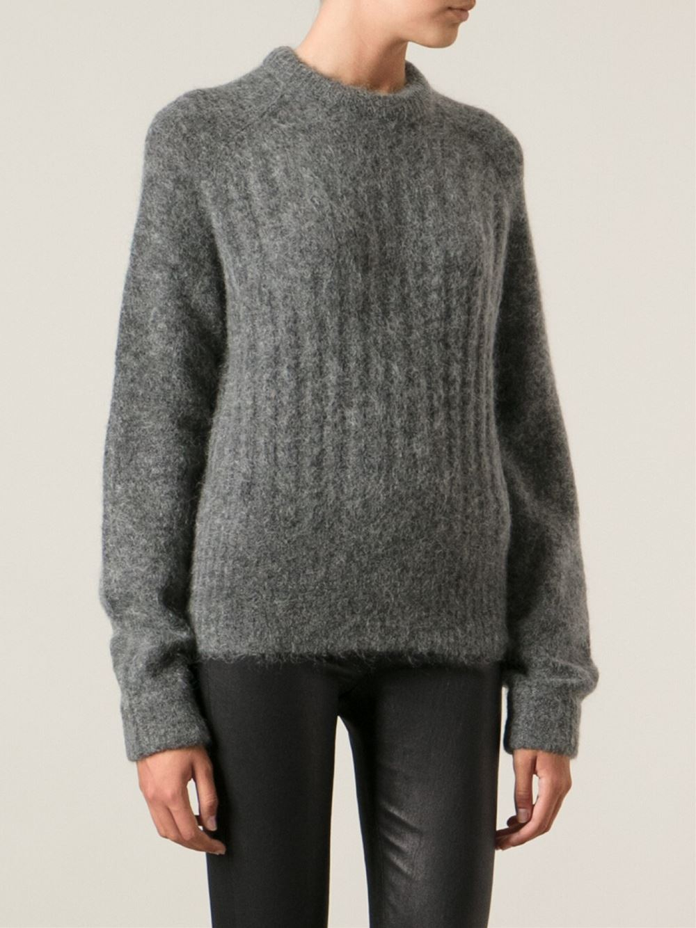 acne studios dania sweater in gray lyst. Black Bedroom Furniture Sets. Home Design Ideas