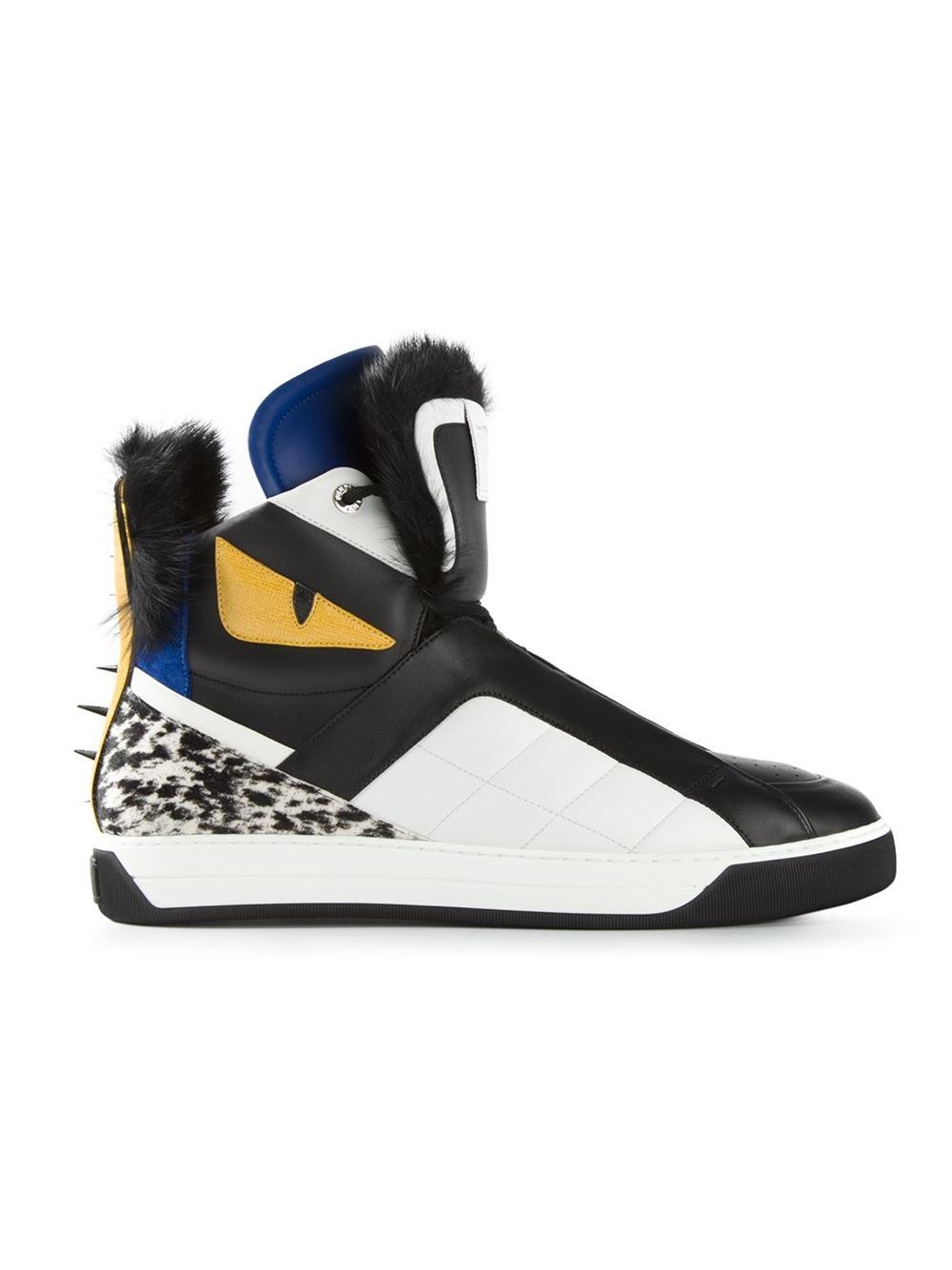 57ec16dca5ad Lyst - Fendi  bag Bugs  Hi-top Sneakers in Black for Men