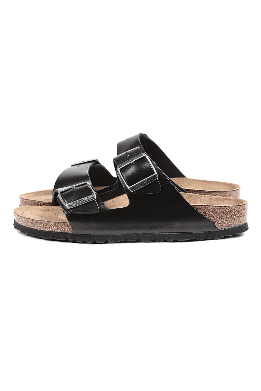 Birkenstock Arizona Amalfi Leather Sandals In Black Lyst