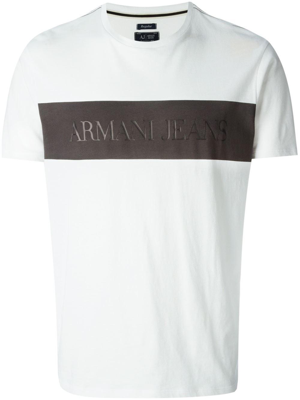 622787eb Armani Jeans Jersey Polo T Shirt Off White | Azərbaycan Dillər ...