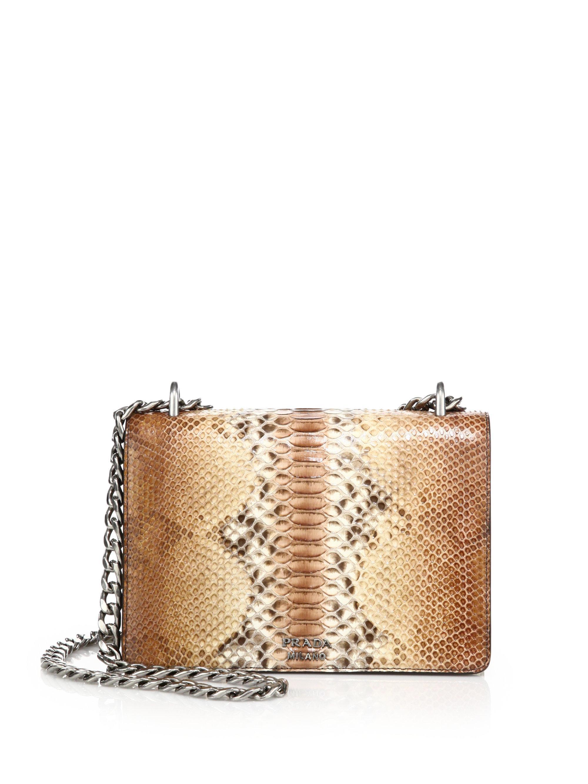 Prada Python Chain Bag in Animal (naturale) | Lyst