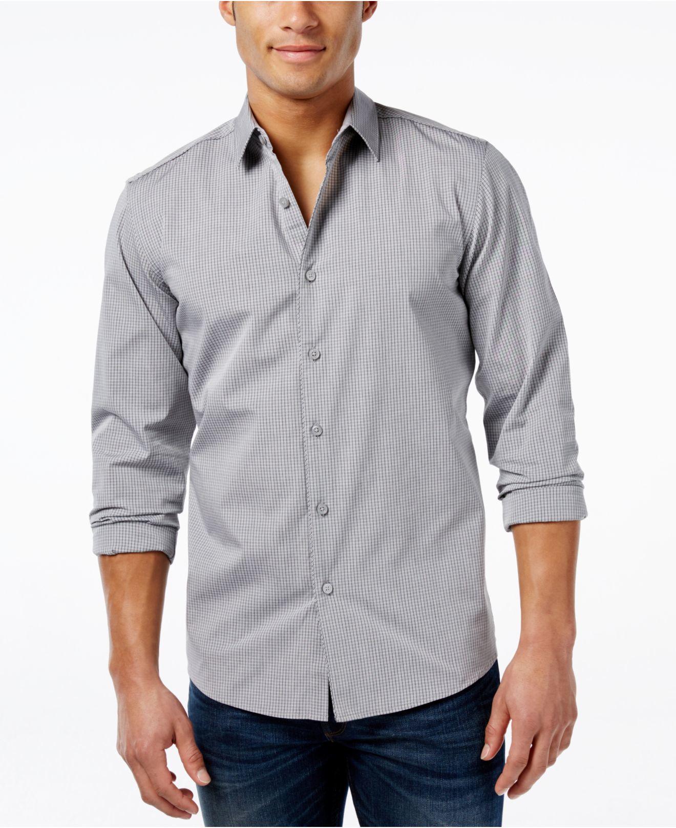 Kenneth Cole Black Men's Ribbed Shirt Dress