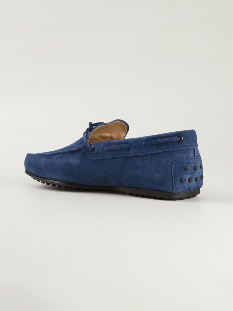 City Gommino Leather Driving Shoes Dark Navy Tod's HtNkk1Q