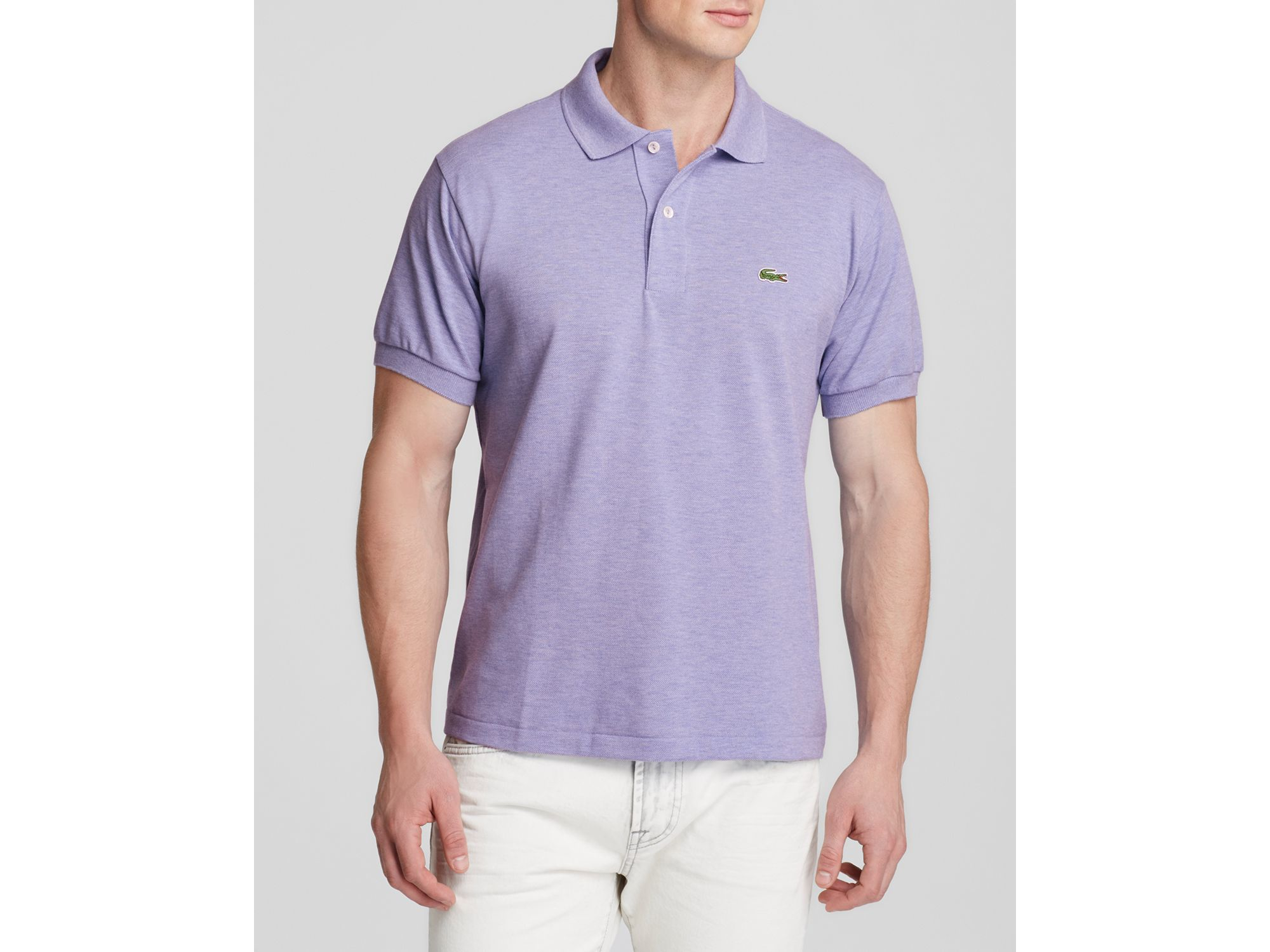 1e6e695d7 Lacoste Short Sleeve Pique Polo Shirt - Classic Fit in Purple for ...