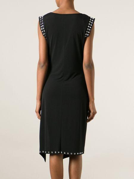 Michael Michael Kors Studded Trim Shift Dress In Black Lyst