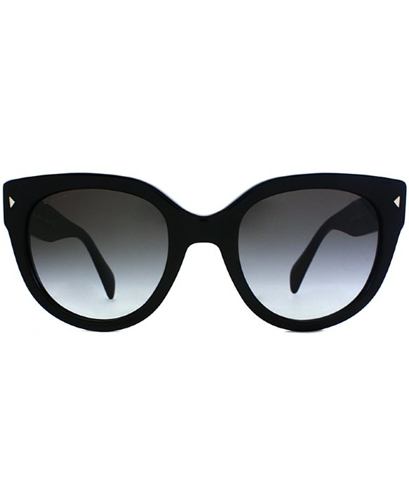 e732a1104c40 ... clearance prada pr 17os 1ab0a7 cat eye plastic sunglasses in black lyst  ea700 356b5