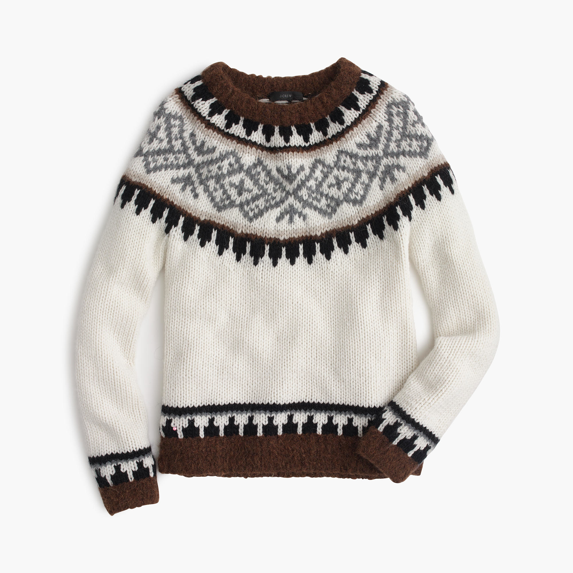 J.crew Collection Fair Isle Sweater In Italian Yarn in Natural for ...