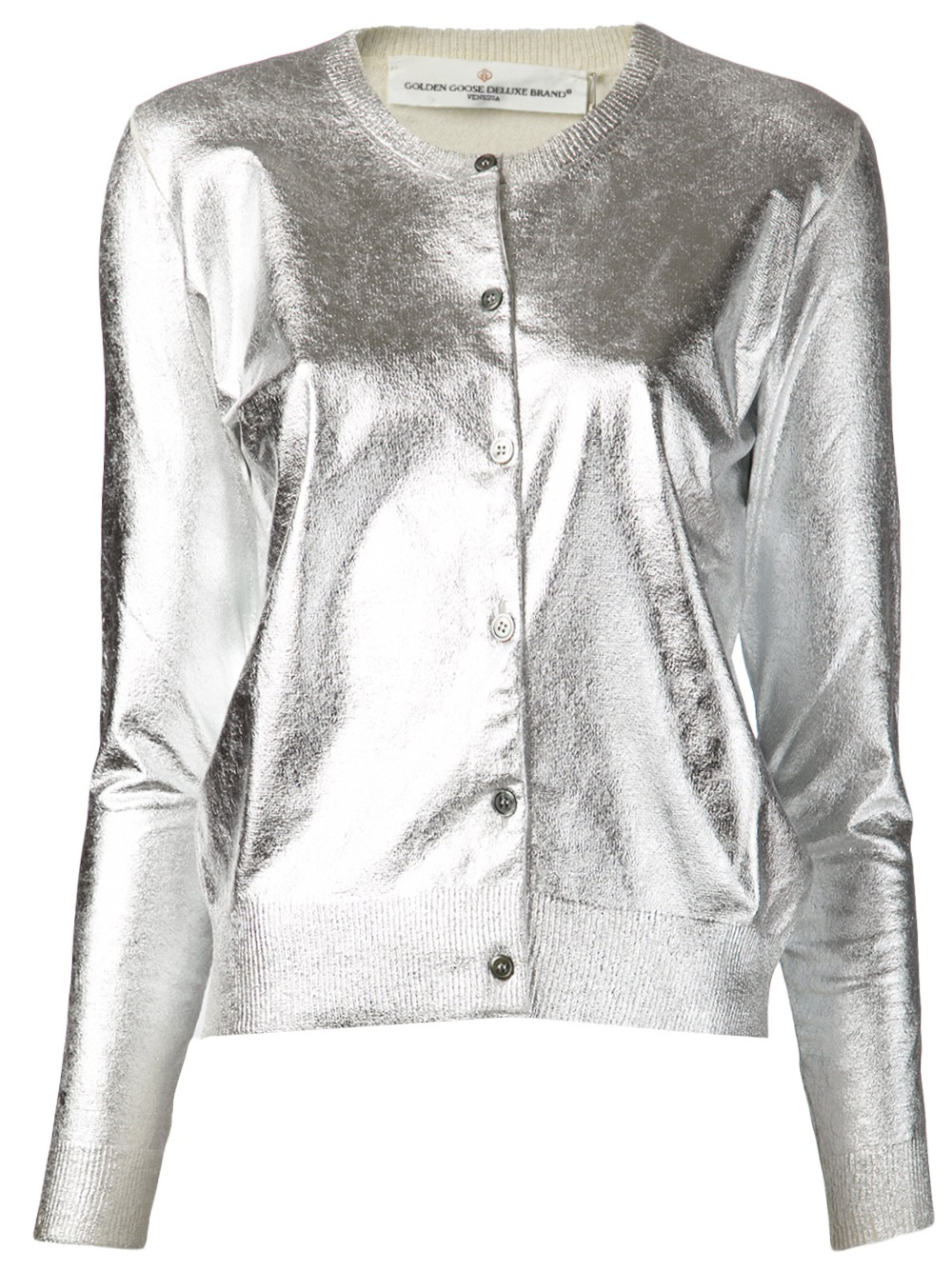 Golden goose deluxe brand 'Chelsea' Cardigan in Metallic | Lyst