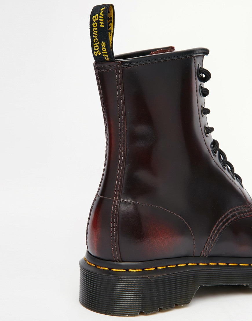 bfddf0c65794 Lyst - Dr. Martens 1460 Cherry Red Arcadia 8-eye Boots in Black