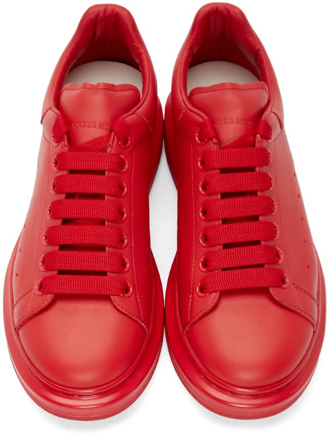 da12fac751271 Lyst - Alexander McQueen Red Larry Low-top Sneakers in Red for Men
