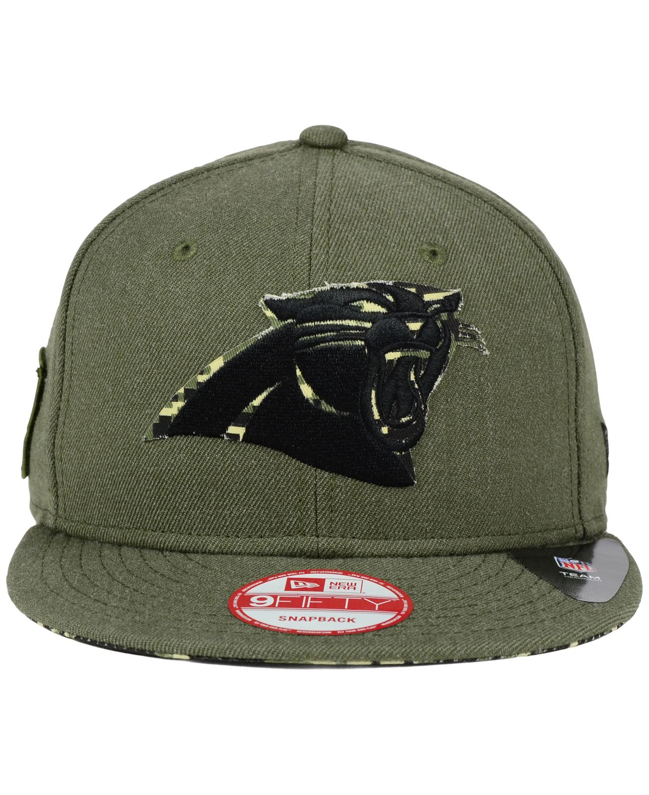 Lyst - KTZ Carolina Panthers Camo 9fifty Snapback Cap in Green for Men ec84295dc