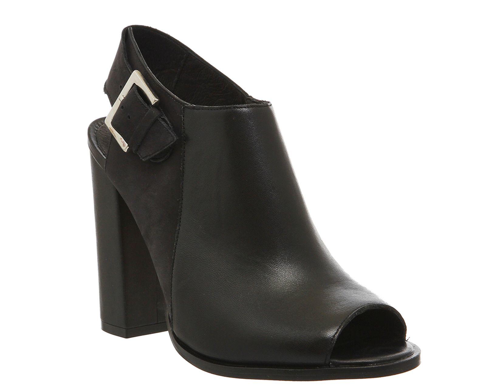 Lyst Office Total Slingback Peep Toe Shoeboots In Black