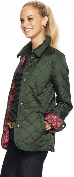 C Wonder Quilted Nylon Barn Jacket In Green HUNTER Lyst