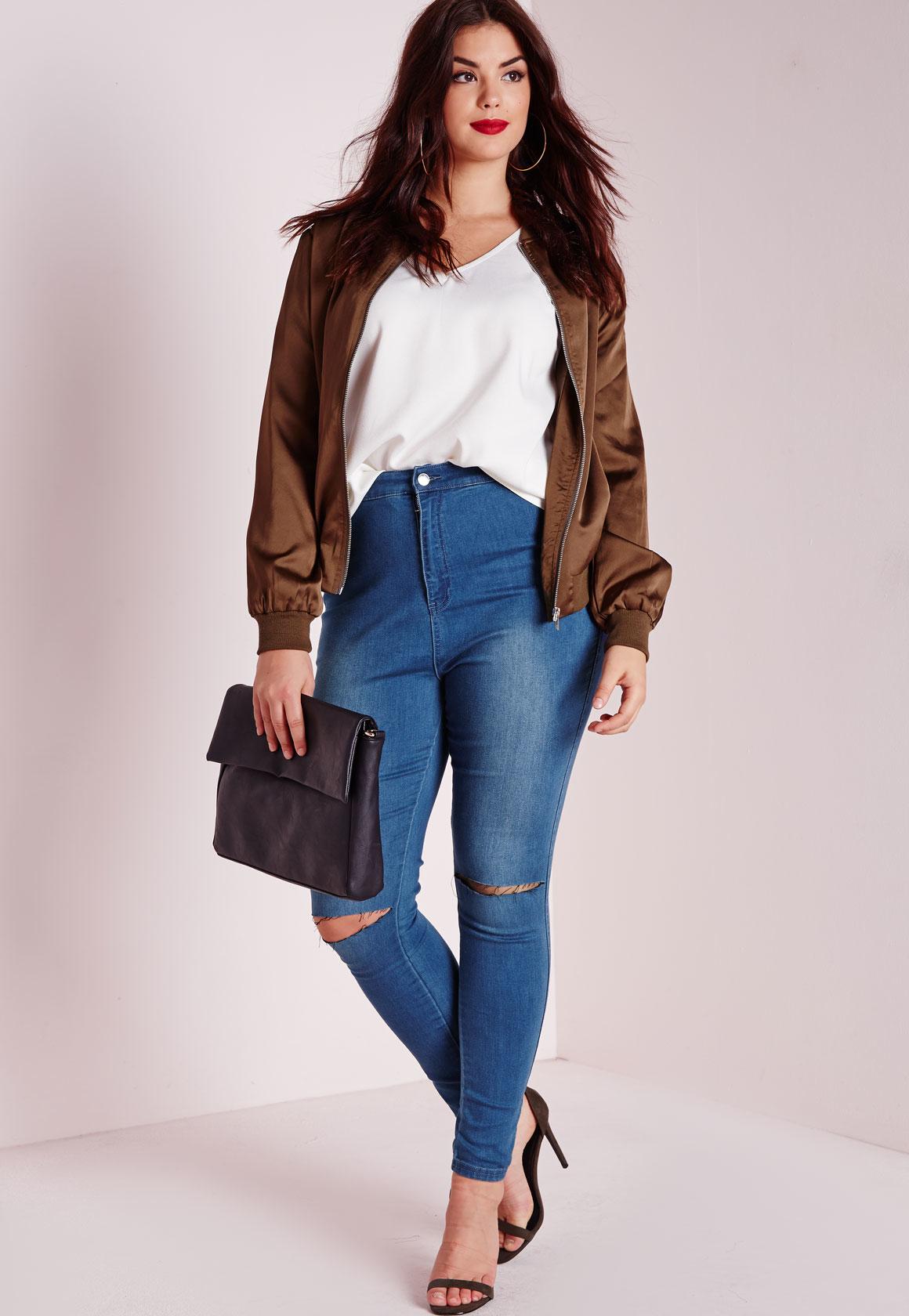 high waisted skinny jeans plus size - Jean Yu Beauty