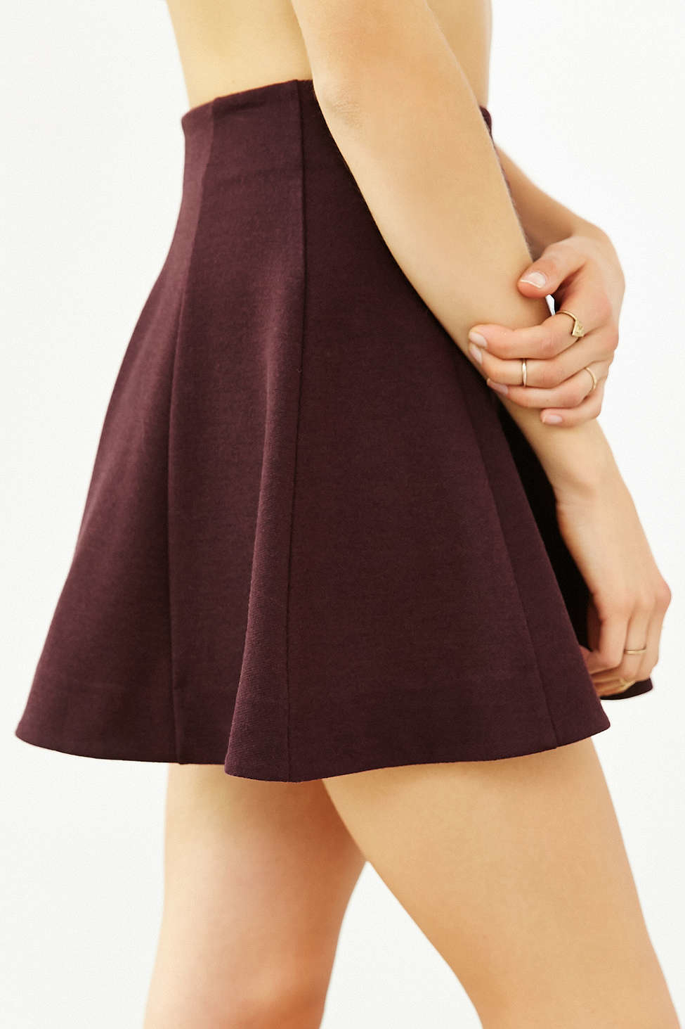 kimchi blue flirt with me seamed skirt in purple lyst