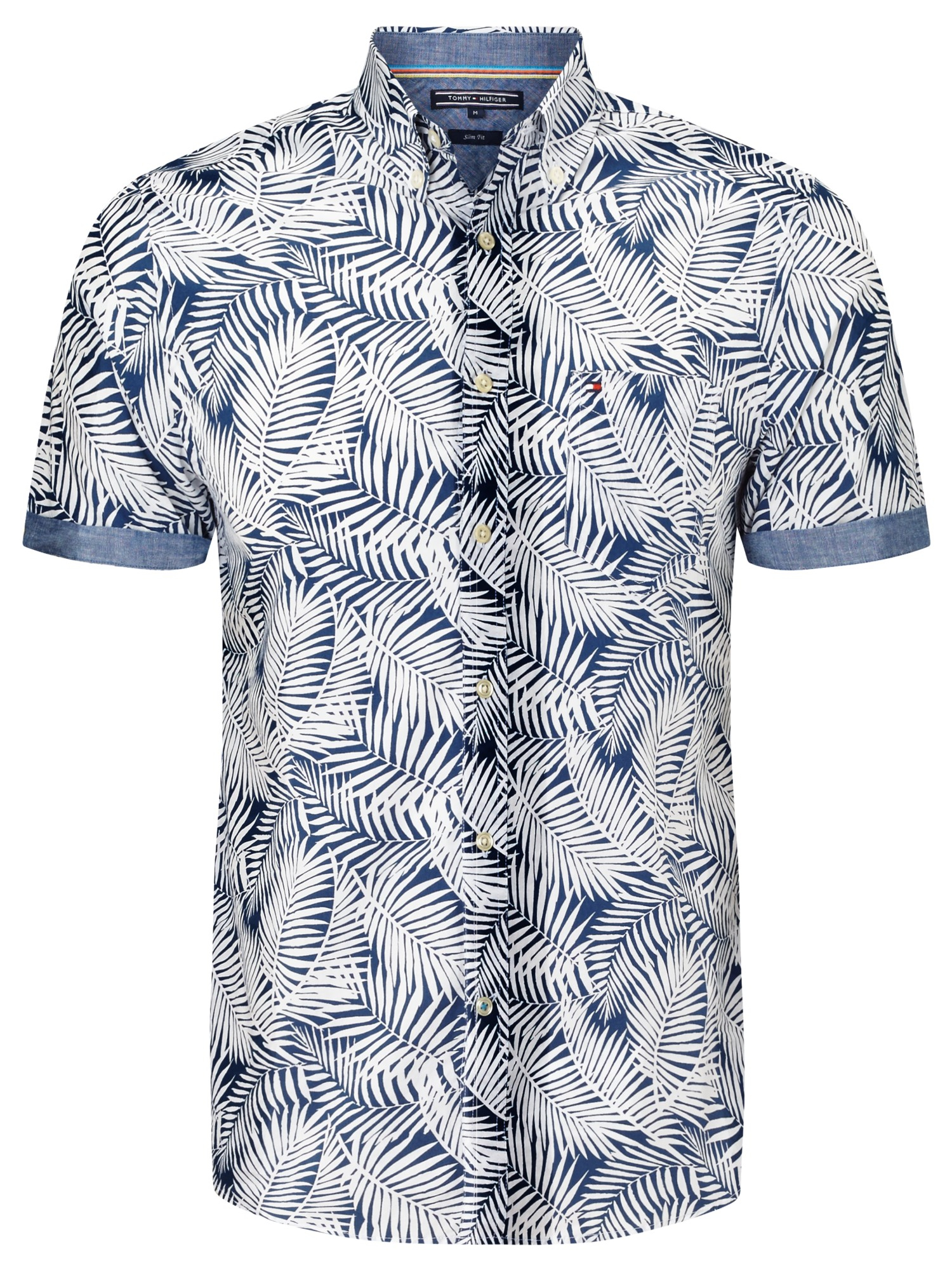 3eb84c4f Tommy Hilfiger Leaf Print Short Sleeve Shirt in Blue for Men - Lyst
