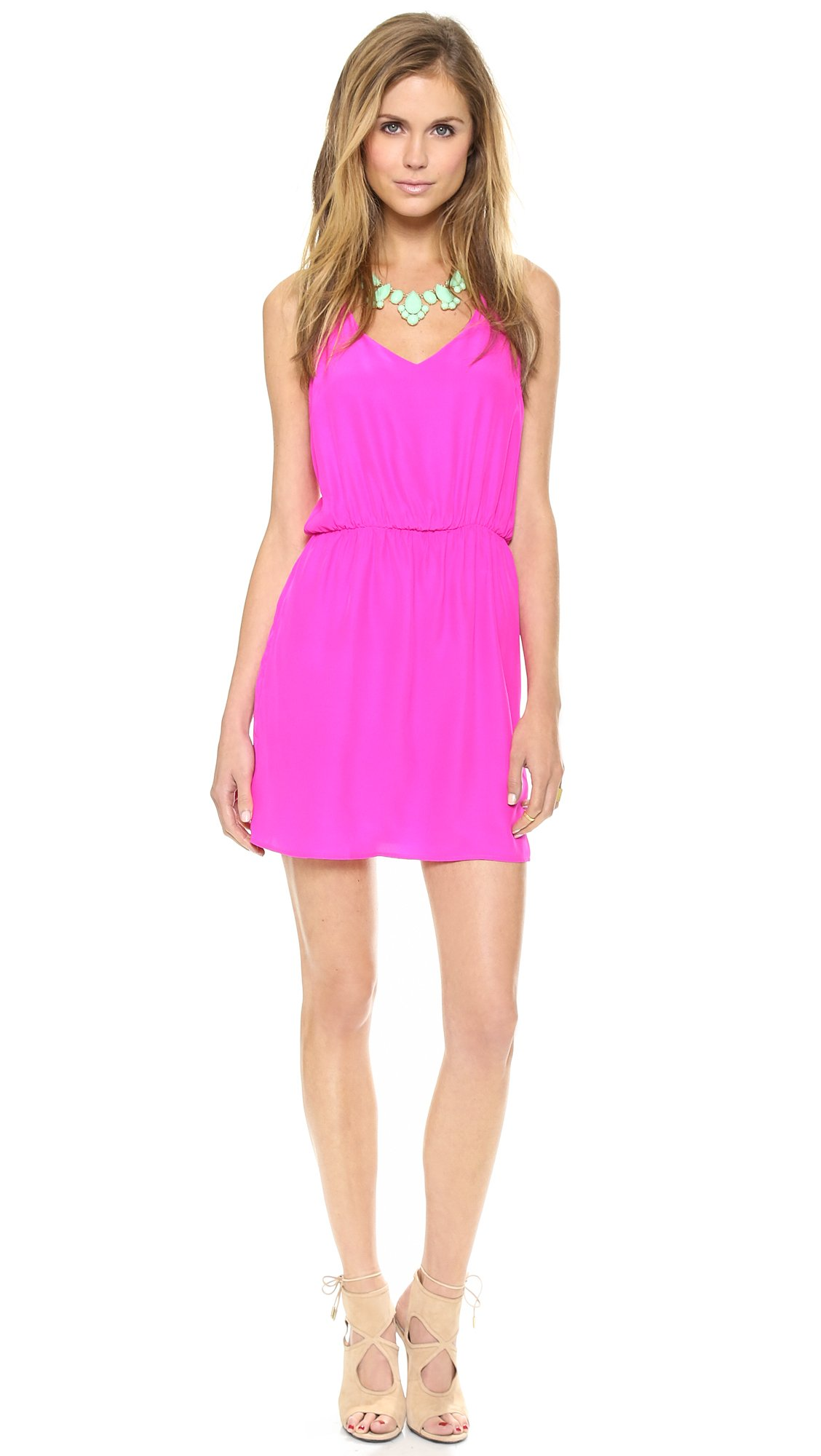 Amanda Uprichard Multi Strap Dress In Pink Hot Pink Lyst