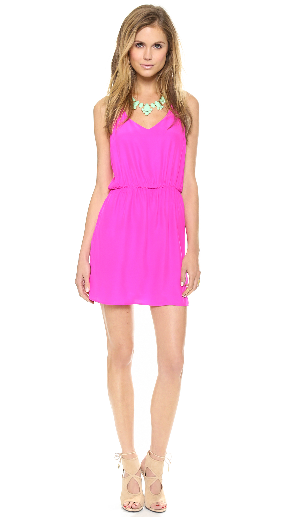 Amanda uprichard Multi Strap Dress in Pink (Hot Pink) | Lyst