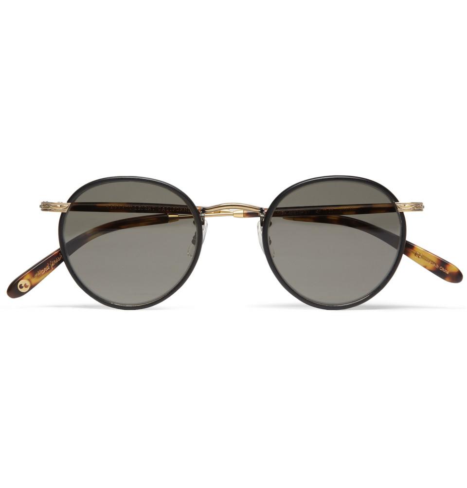 ce6e433d74 Garrett leight Wilson Roundframe Sunglasses in Black for Men