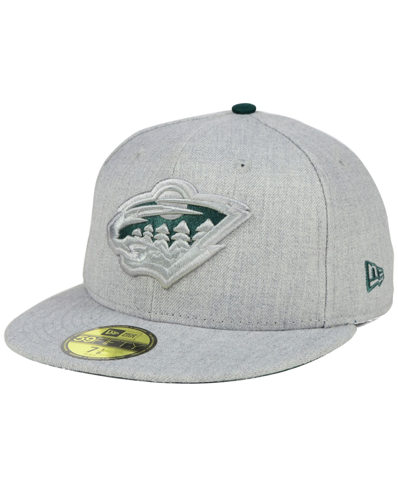 online store 360bf 5f2b9 ... snapback hat a66f2 e1413  best price lyst ktz minnesota wild heather  league basic 59fifty cap in gray for men 80124
