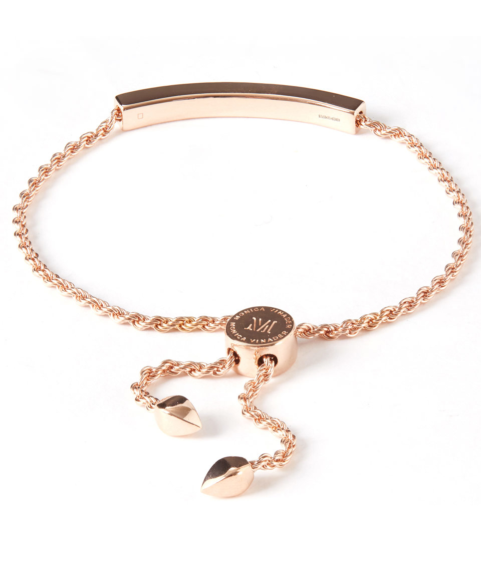 vinader gold plated linear chain