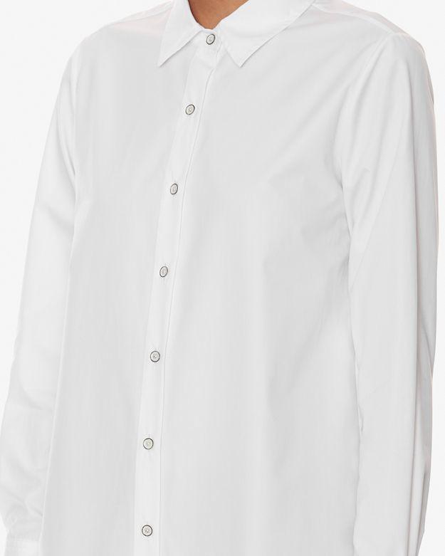 Rag bone nightingale shirt in white lyst for Rag and bone white t shirt