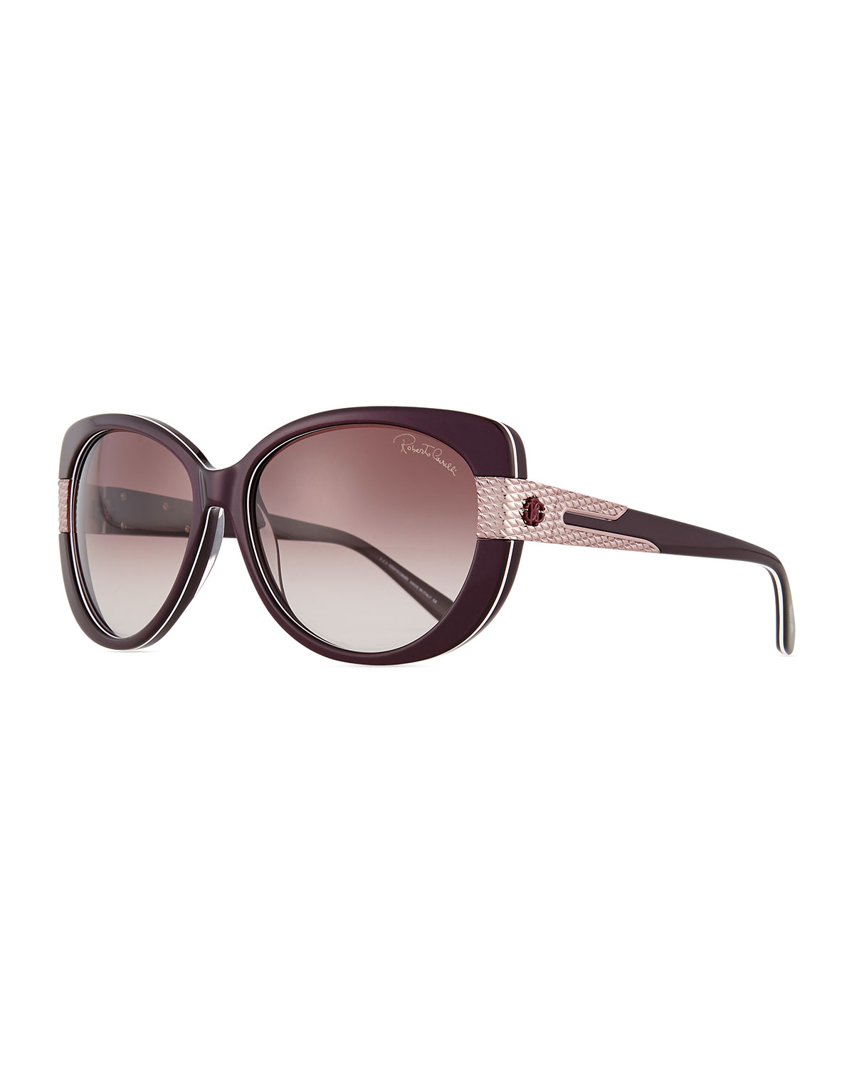 roberto cavalli plastic sunglasses in purple lyst