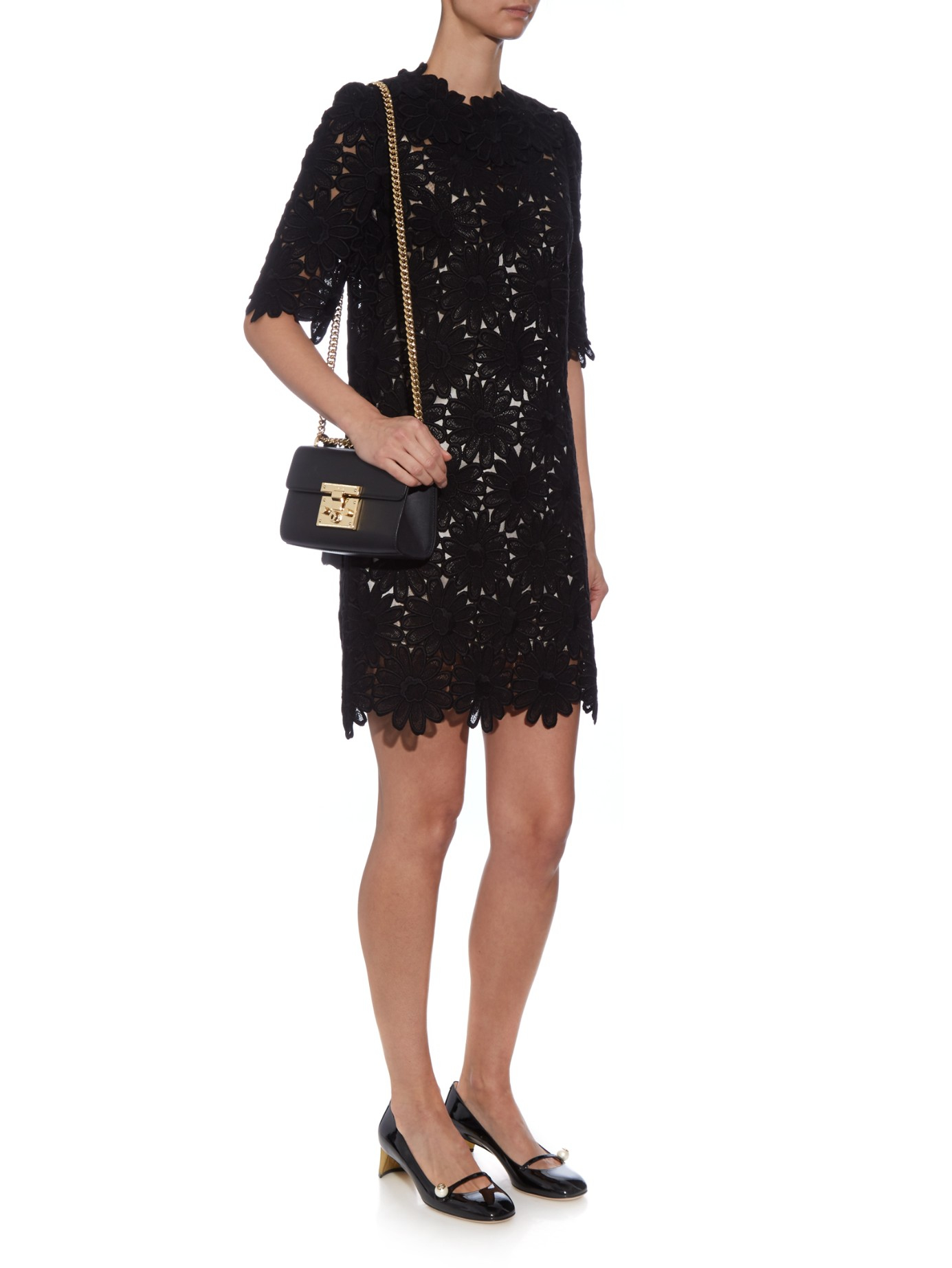 1a30e7c866d7 Lyst - Gucci Arielle Patent-leather Pumps in Black