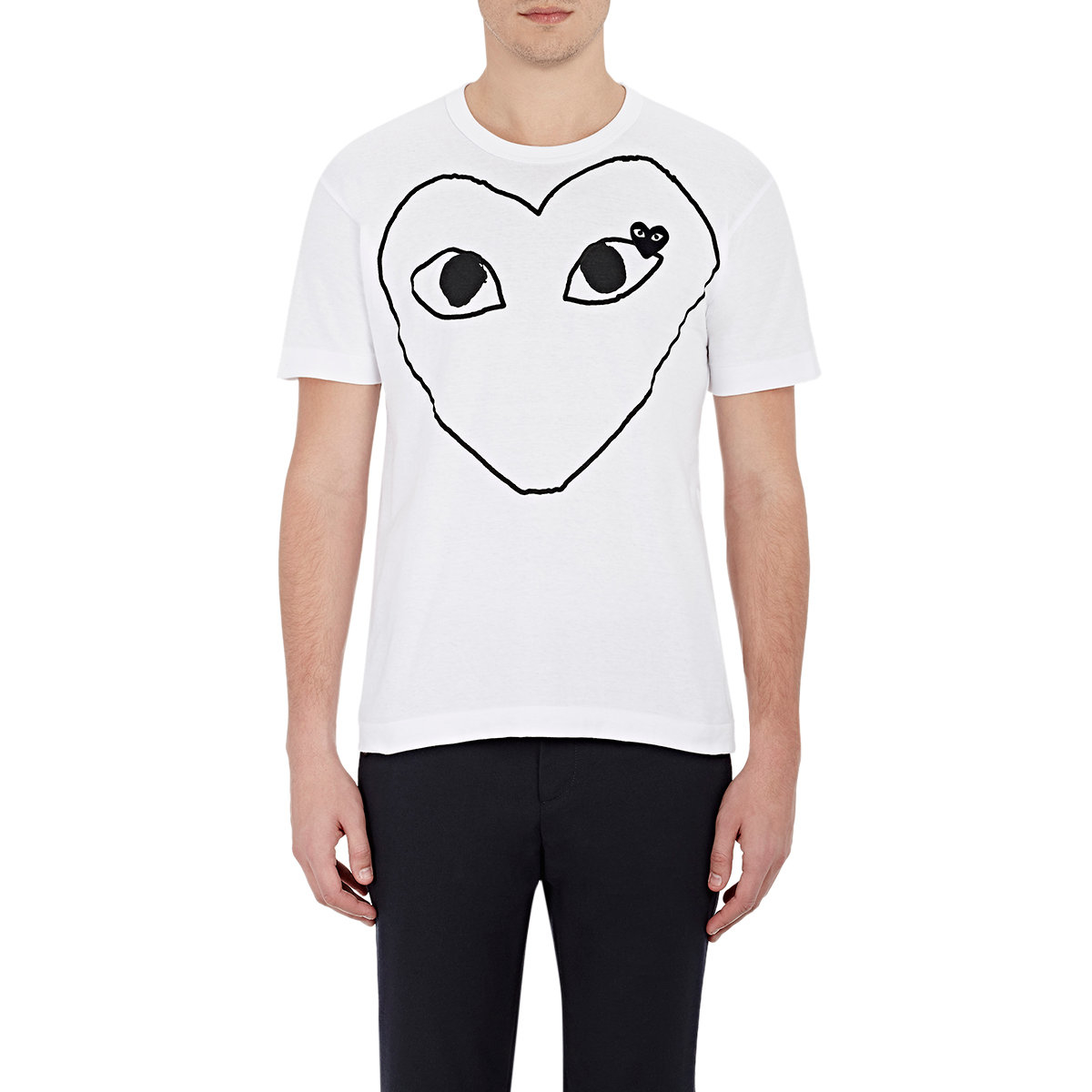 Play Comme Des Gar Ons Heart Graphic T Shirt In White For